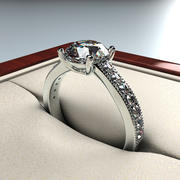 Wedding Ring, and Package 3d model