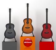 Акустическая гитара 3d model