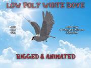 Model 3D animowany w technologii Low Poly Dove 3d model