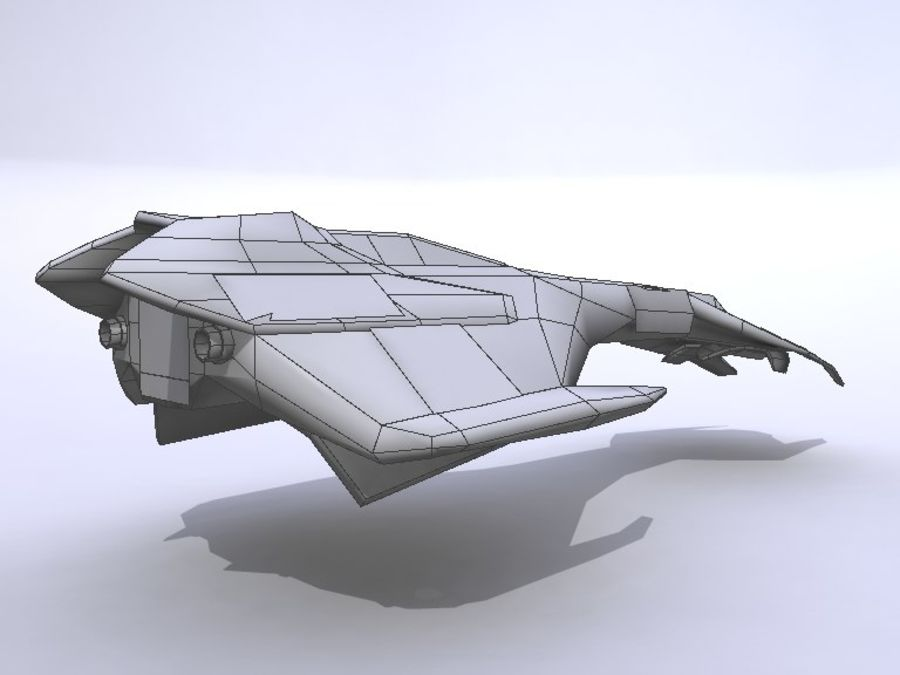 Space Race Ship 04 royalty-free 3d model - Preview no. 4
