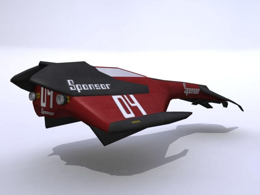 Space Race Ship 04 royalty-free 3d model - Preview no. 3
