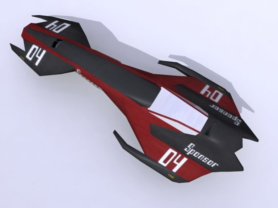 Space Race Ship 04 royalty-free 3d model - Preview no. 5