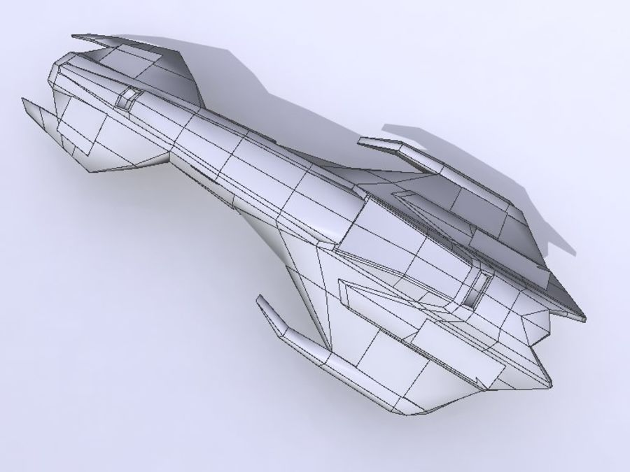 Space Race Ship 04 royalty-free 3d model - Preview no. 6