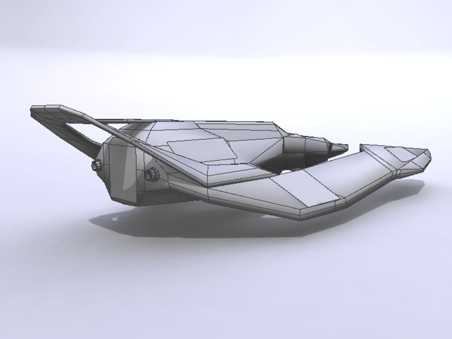 Space Race Ship 05 royalty-free 3d model - Preview no. 4