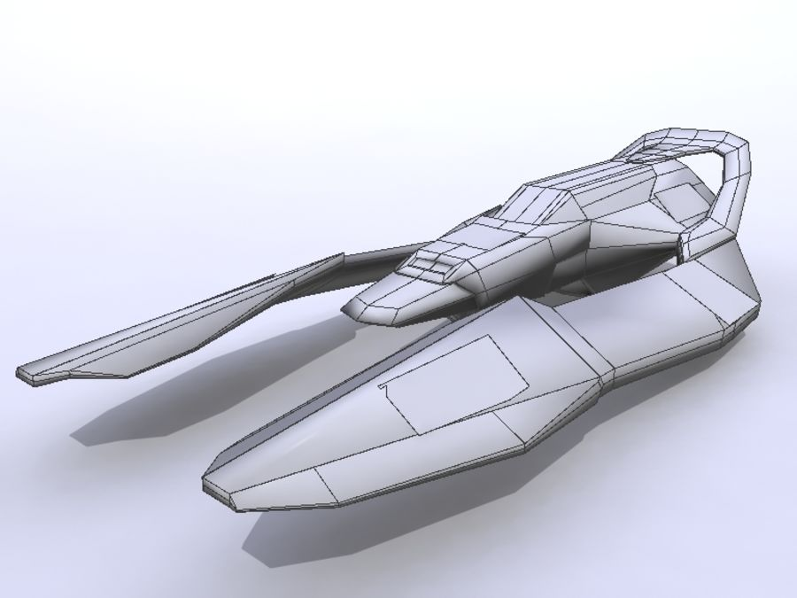 Space Race Ship 05 royalty-free 3d model - Preview no. 2