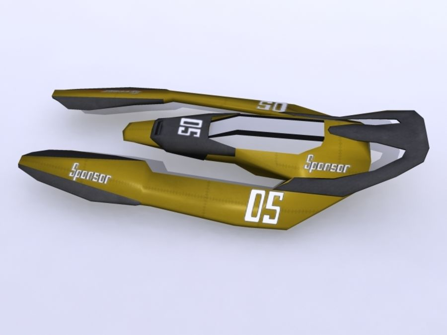 Space Race Ship 05 royalty-free 3d model - Preview no. 5