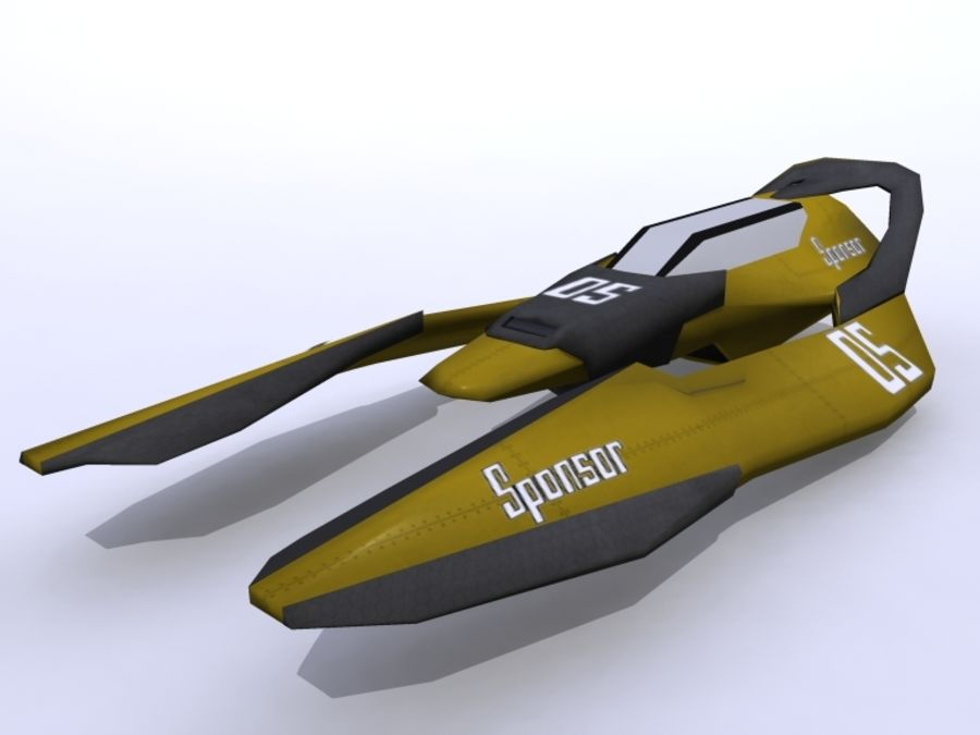 Space Race Ship 05 royalty-free 3d model - Preview no. 1