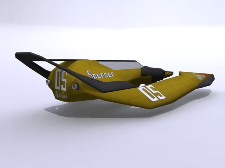 Space Race Ship 05 royalty-free 3d model - Preview no. 3