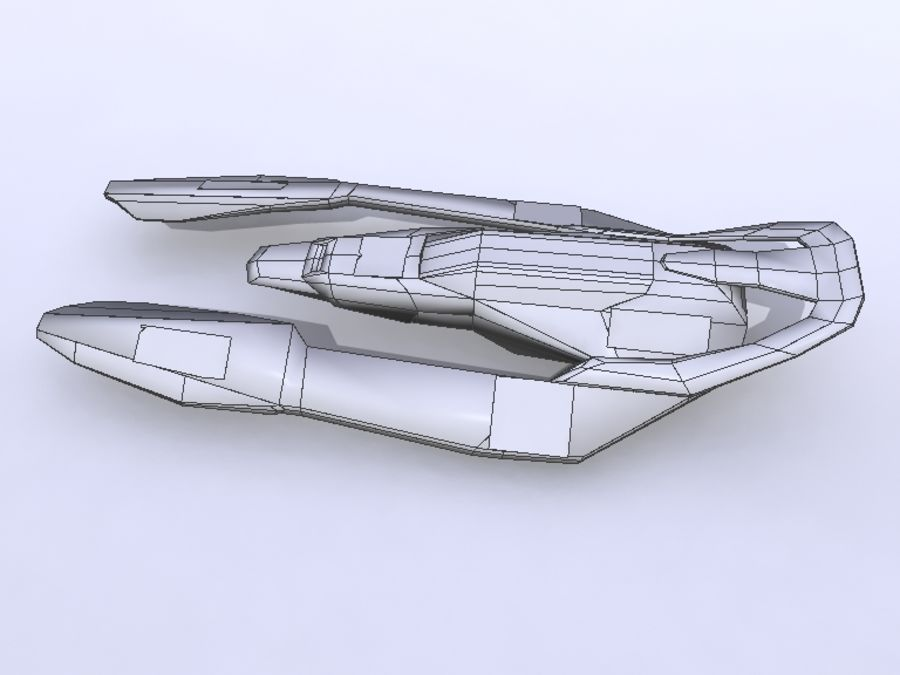 Space Race Ship 05 royalty-free 3d model - Preview no. 6