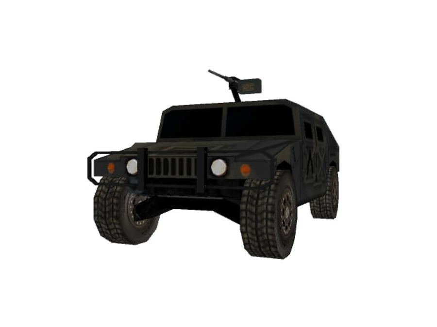 M1025 Humvee royalty-free 3d model - Preview no. 5