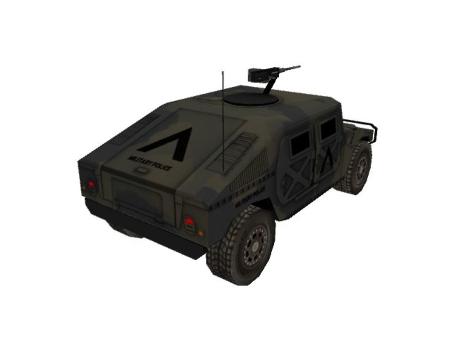 M1025 Humvee royalty-free 3d model - Preview no. 3