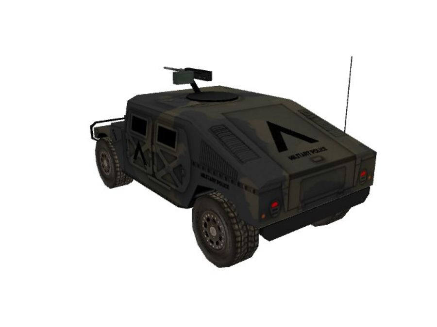 M1025 Humvee royalty-free 3d model - Preview no. 4