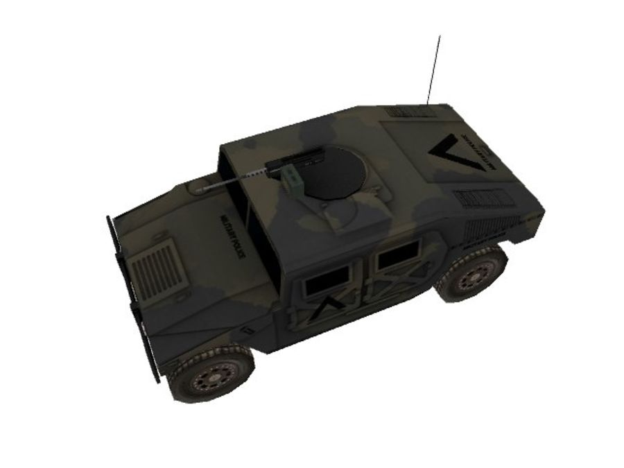 M1025 Humvee royalty-free 3d model - Preview no. 6