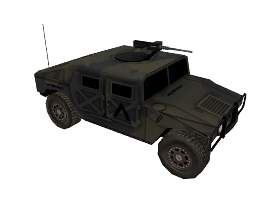 M1025 Humvee royalty-free 3d model - Preview no. 2