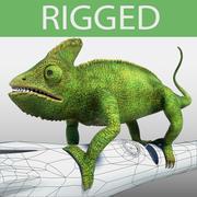 Kameleon (grön) 3d model
