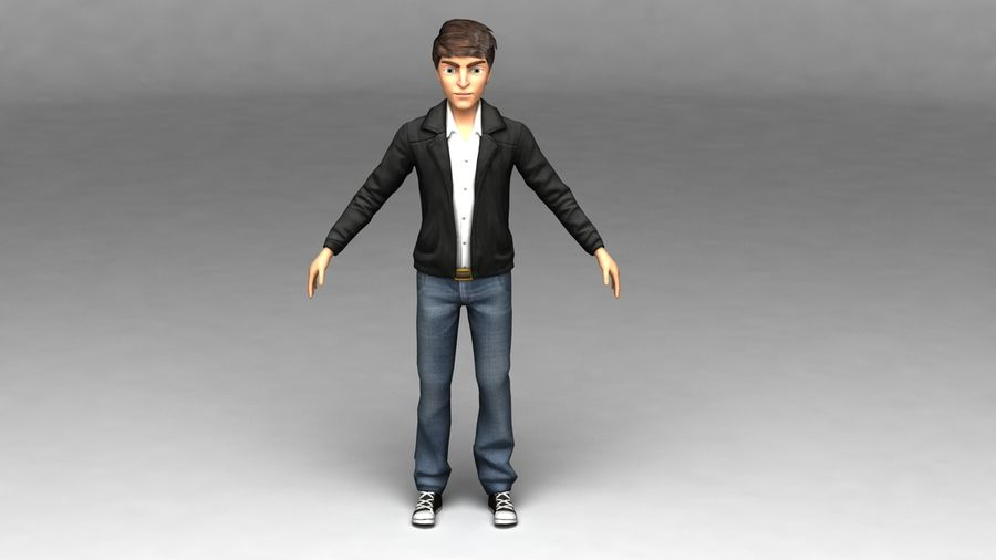 Male boy guy Character royalty-free 3d model - Preview no. 3