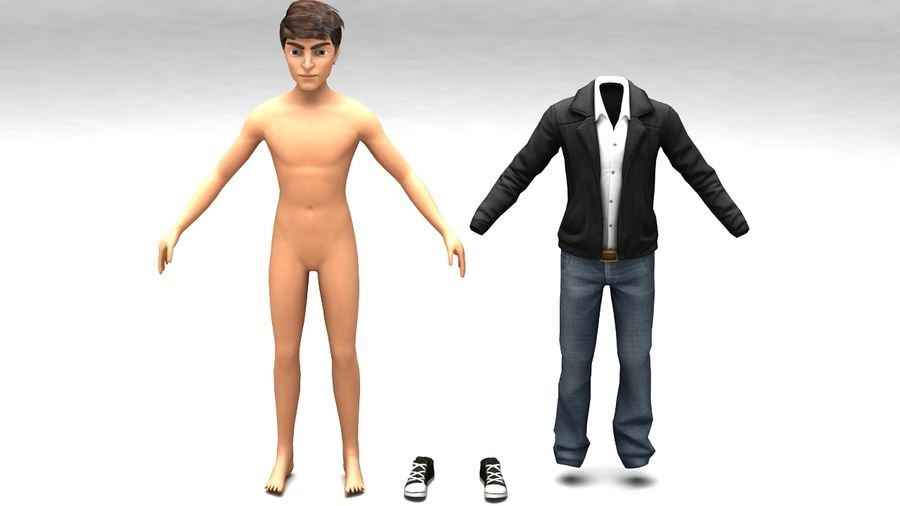 Male boy guy Character royalty-free 3d model - Preview no. 4