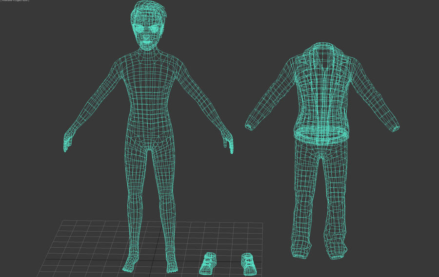 Male boy guy Character royalty-free 3d model - Preview no. 6