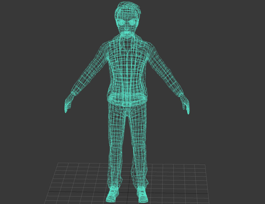 Male boy guy Character royalty-free 3d model - Preview no. 5