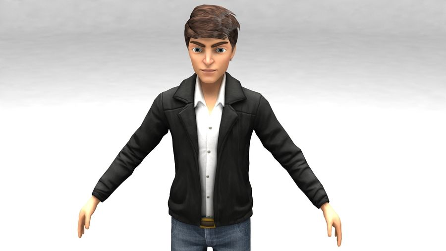 Male boy guy Character royalty-free 3d model - Preview no. 1