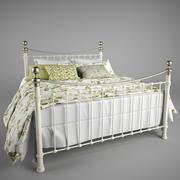 bed duvet and pillows 3d model
