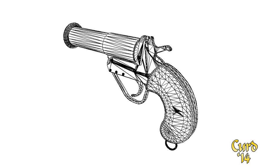 pistola lanciarazzi britannica royalty-free 3d model - Preview no. 8
