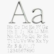 Буквы 3d model