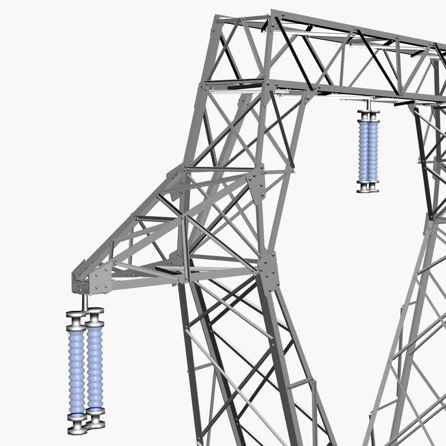 Electricity Pylon royalty-free 3d model - Preview no. 7