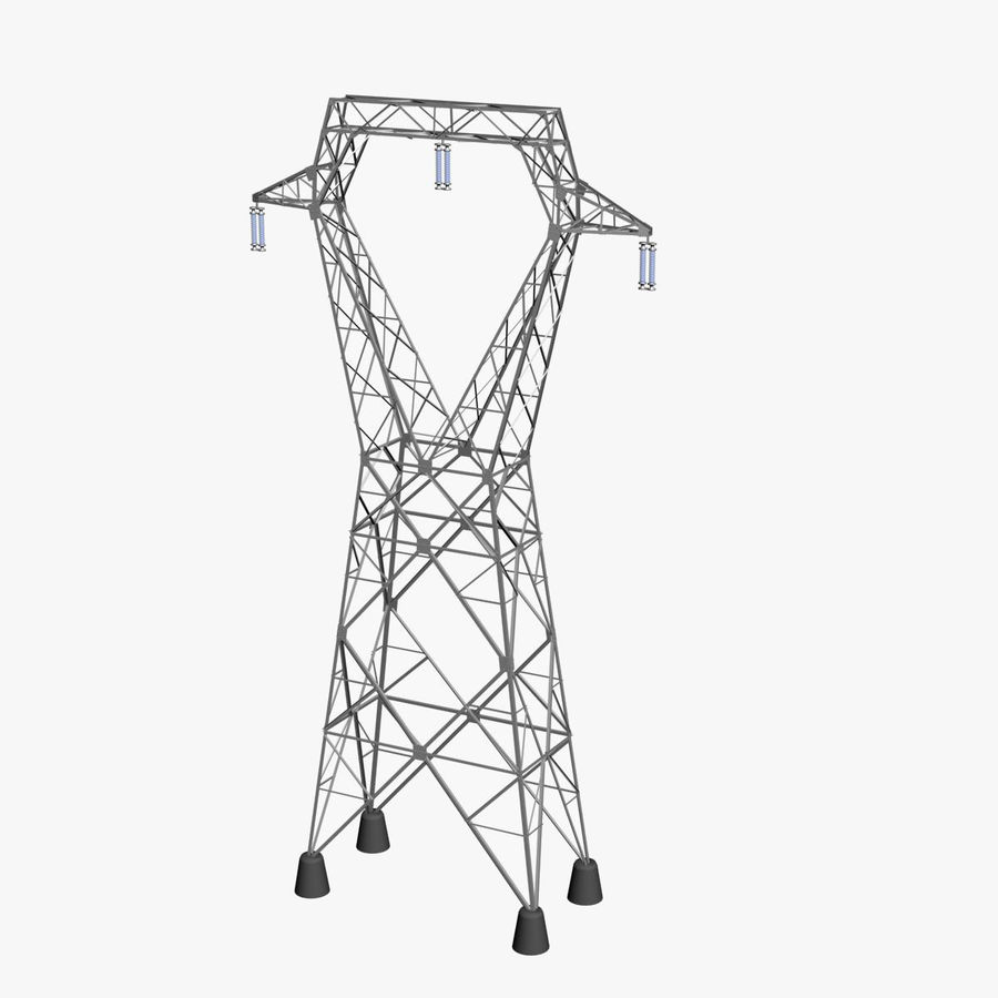 Electricity Pylon royalty-free 3d model - Preview no. 1