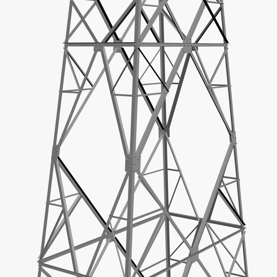 Electricity Pylon royalty-free 3d model - Preview no. 6