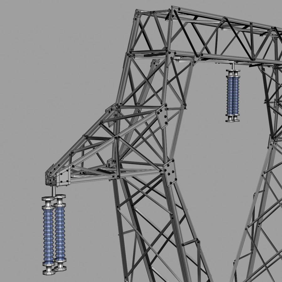 Electricity Pylon royalty-free 3d model - Preview no. 13