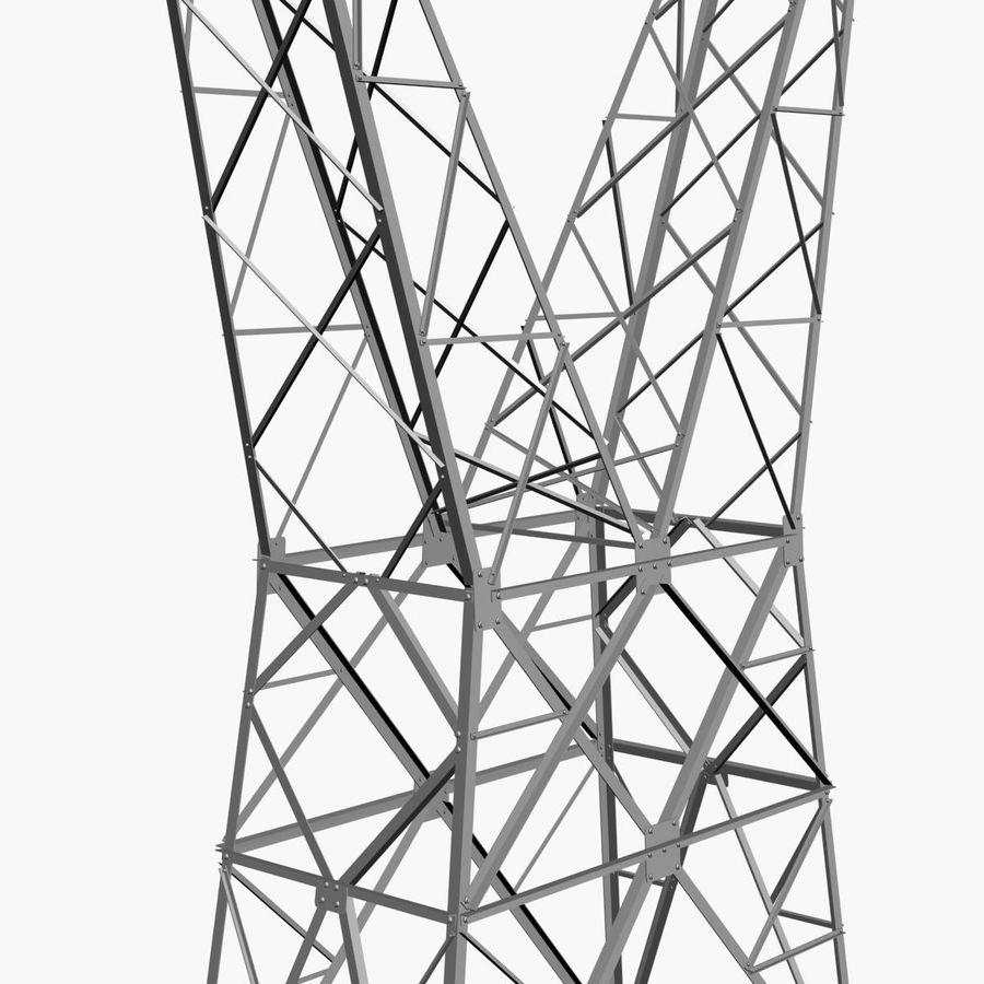 Electricity Pylon royalty-free 3d model - Preview no. 4