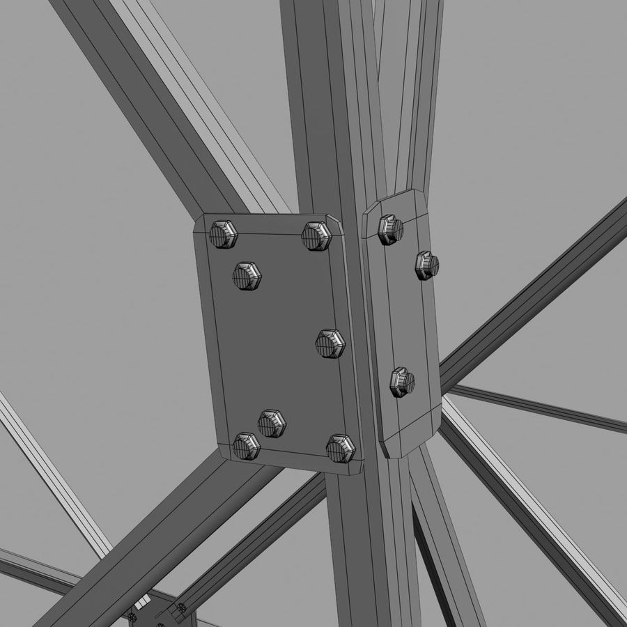 Electricity Pylon royalty-free 3d model - Preview no. 11