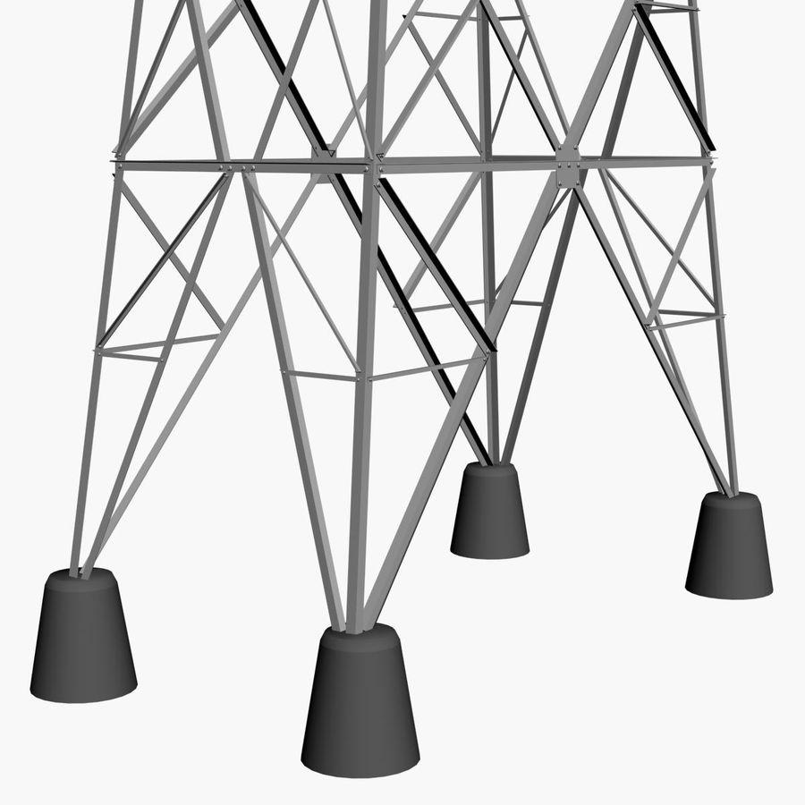 Electricity Pylon royalty-free 3d model - Preview no. 5