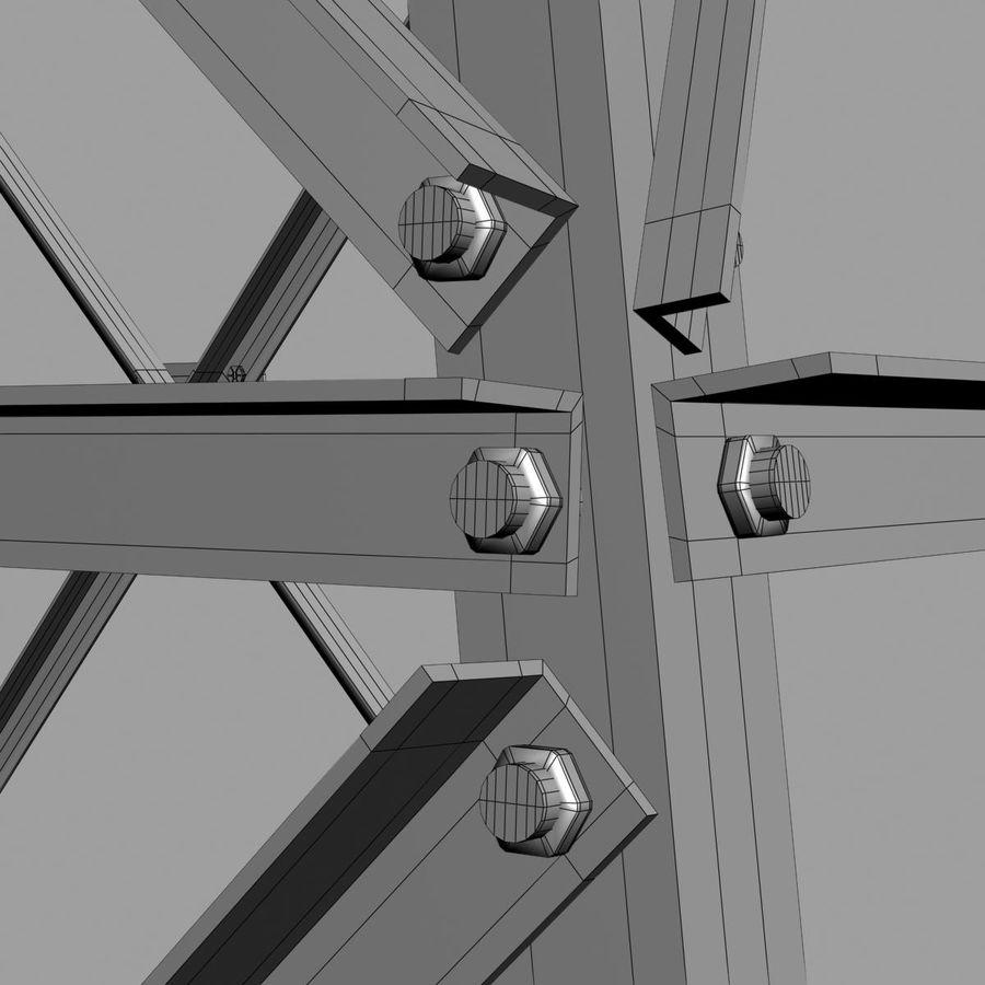 Electricity Pylon royalty-free 3d model - Preview no. 9