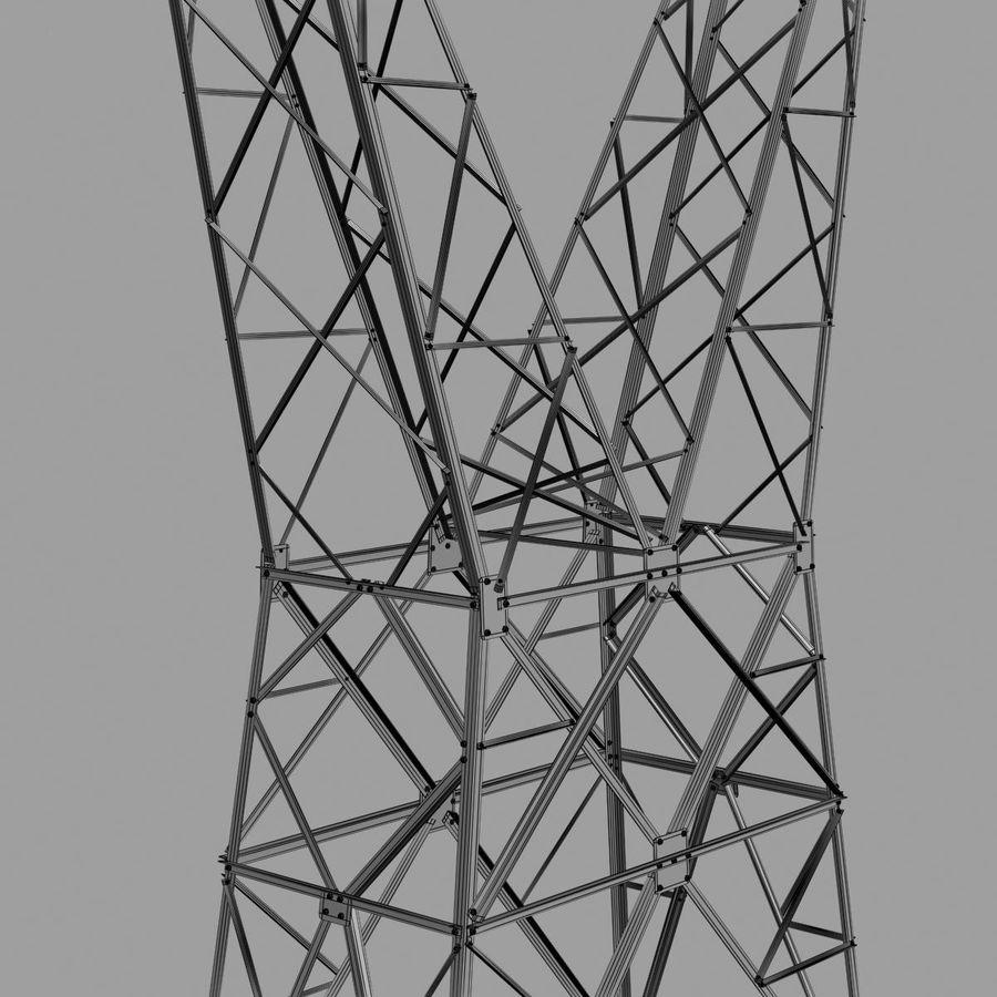 Electricity Pylon royalty-free 3d model - Preview no. 12