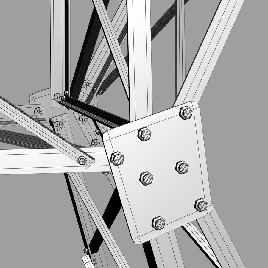 Electricity Pylon royalty-free 3d model - Preview no. 8
