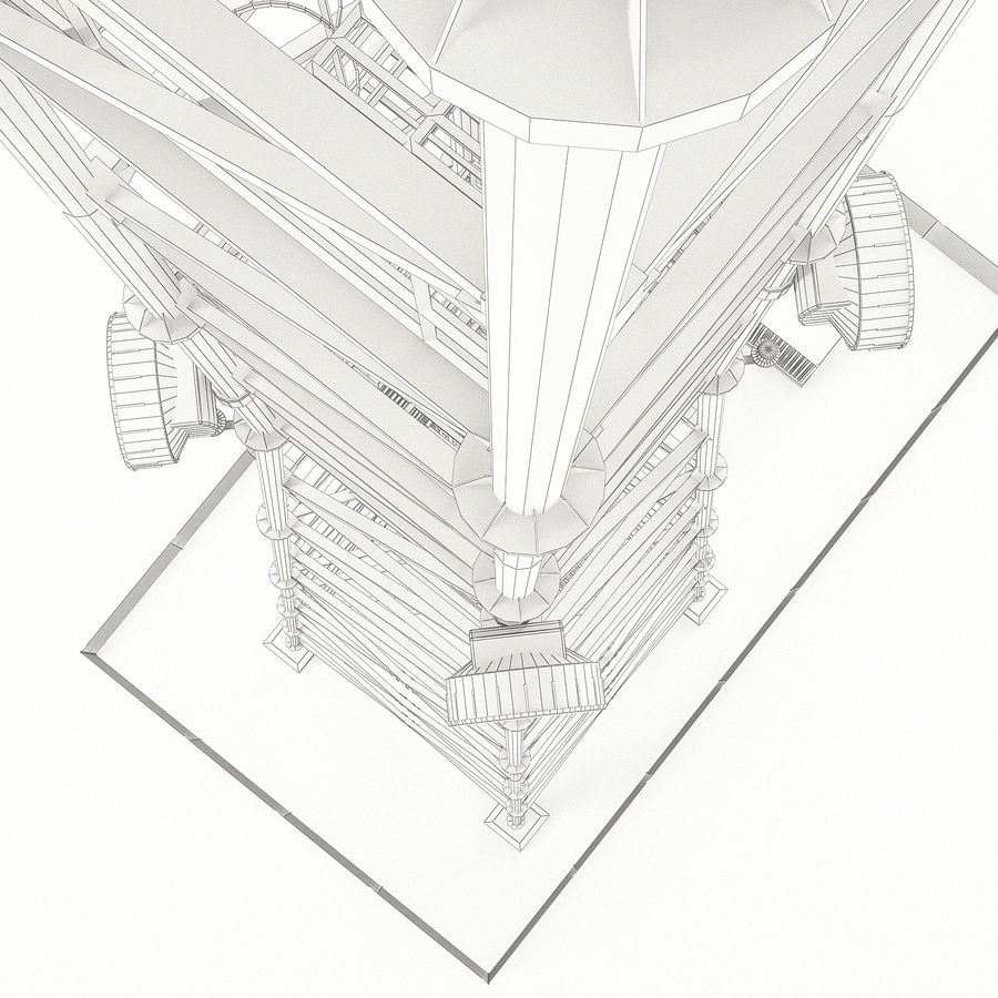 Communication tower royalty-free 3d model - Preview no. 19