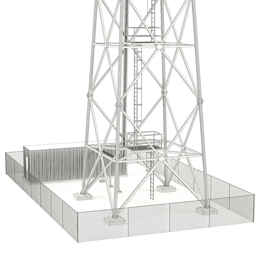 Communication tower royalty-free 3d model - Preview no. 11