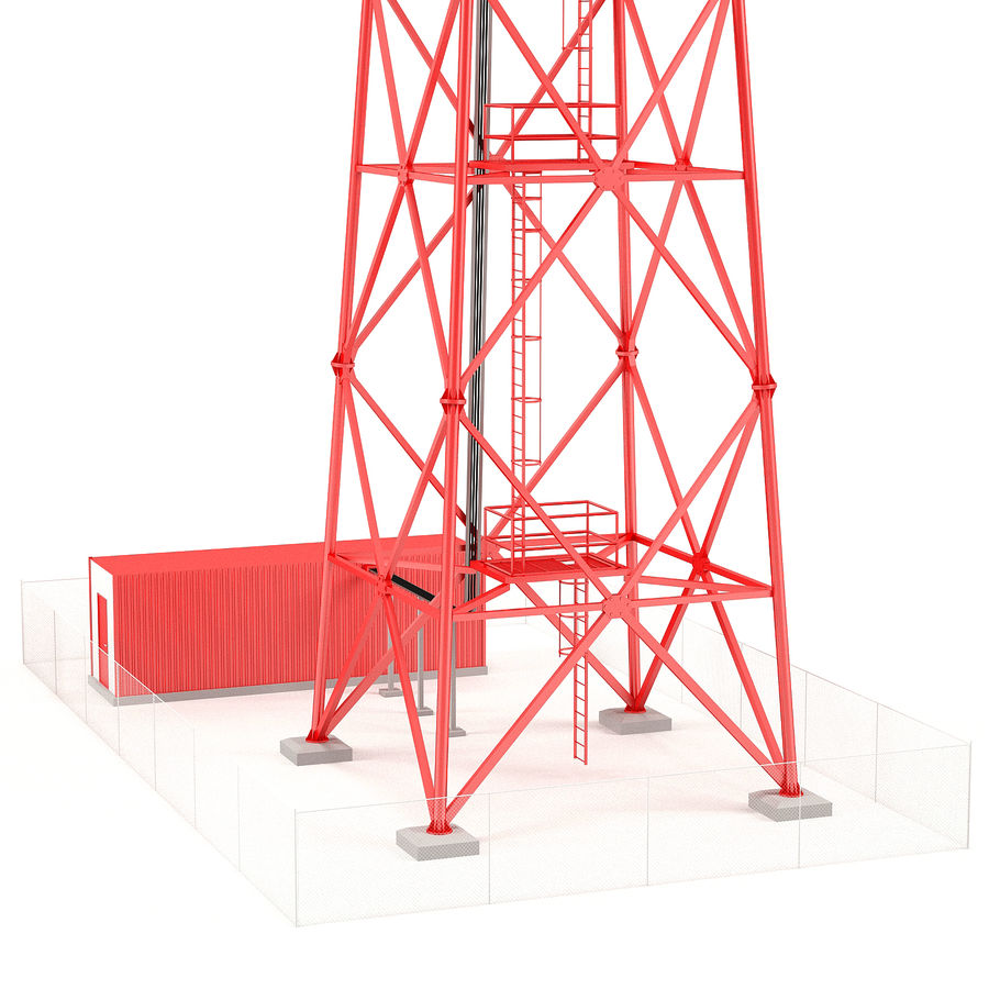 Communication tower royalty-free 3d model - Preview no. 10