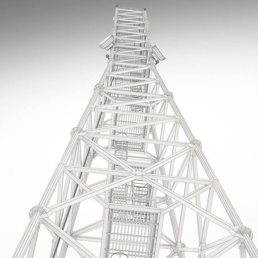 Communication tower royalty-free 3d model - Preview no. 15