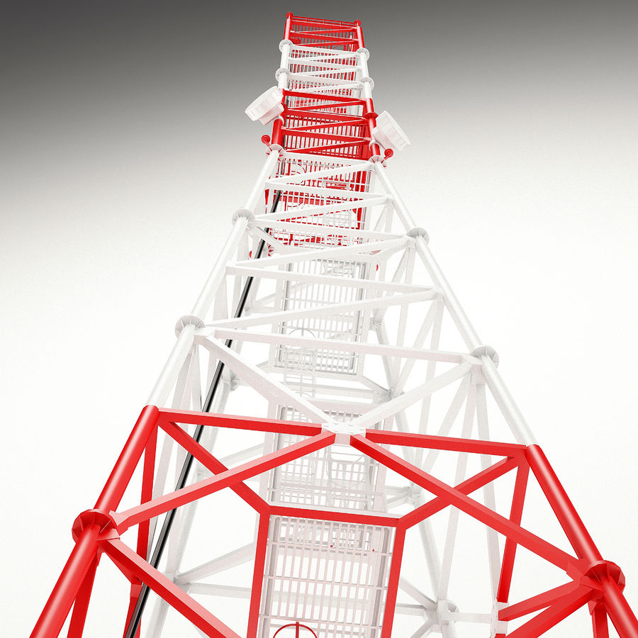 Communication tower royalty-free 3d model - Preview no. 14