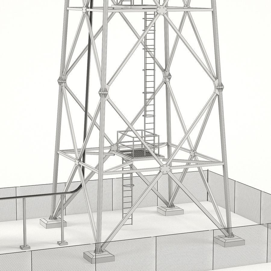 Communication tower royalty-free 3d model - Preview no. 9