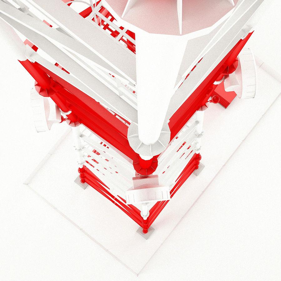 通信塔 royalty-free 3d model - Preview no. 18