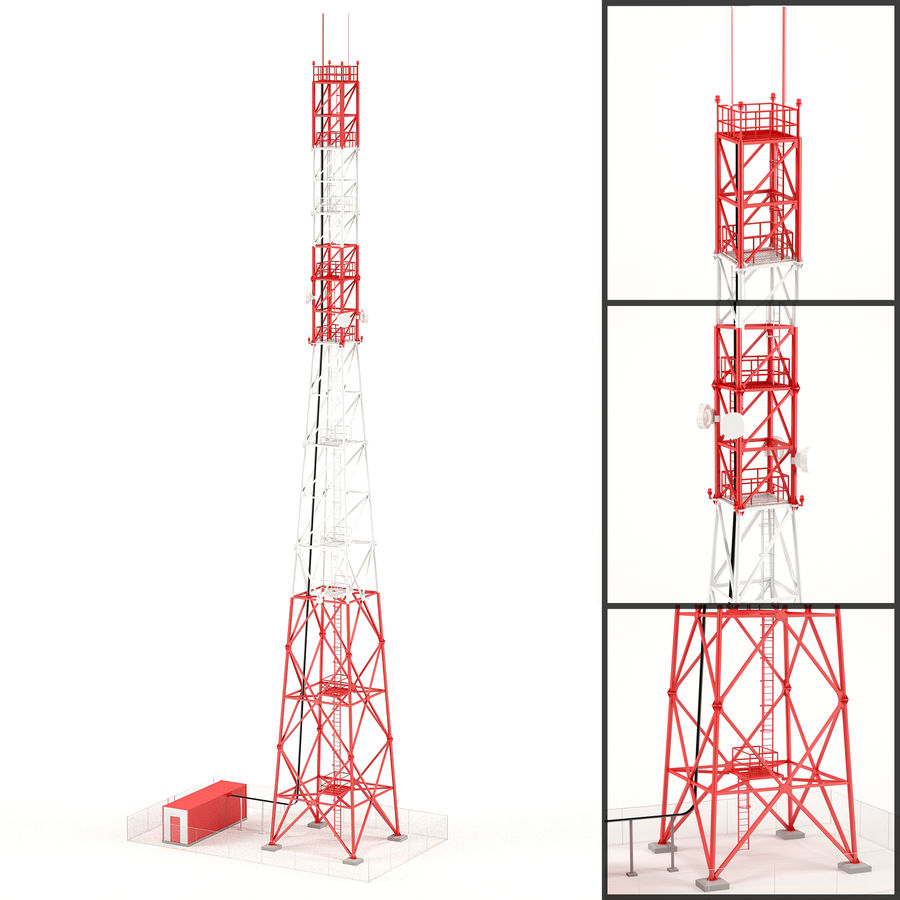 Communication tower royalty-free 3d model - Preview no. 1
