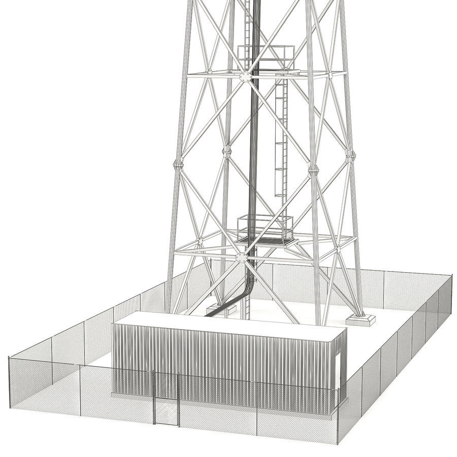 Communication tower royalty-free 3d model - Preview no. 13