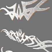 3D-symboler prydnadssamling 3d model