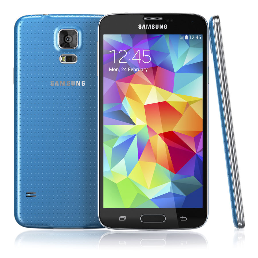 Samsung GALAXY S5 royalty-free 3d model - Preview no. 3