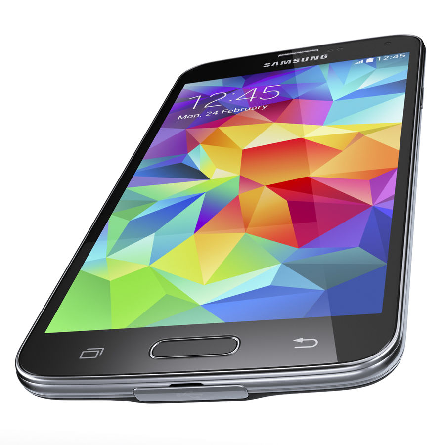 Samsung GALAXY S5 royalty-free 3d model - Preview no. 13