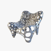 Fauteuil II Metal Grey 3d model